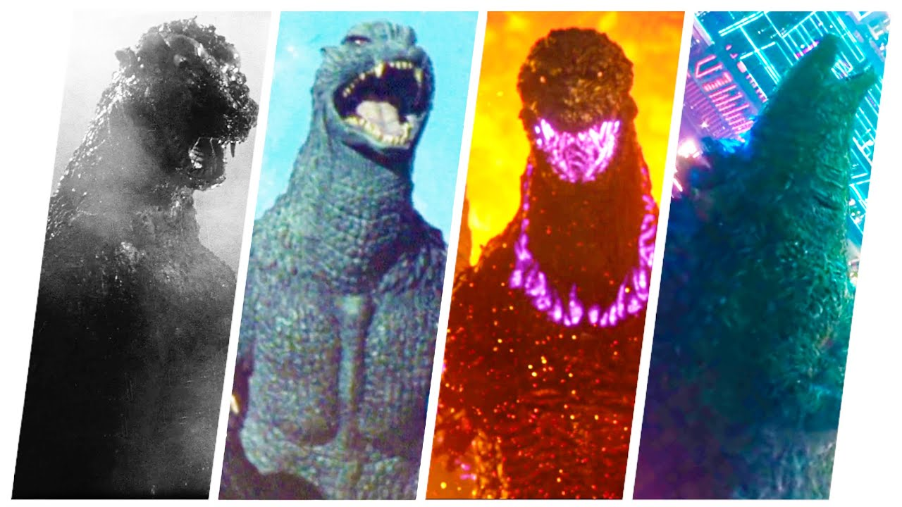 GODZILLA: Evolution in Movies and Cartoons (1954-2021) MonsterVerse