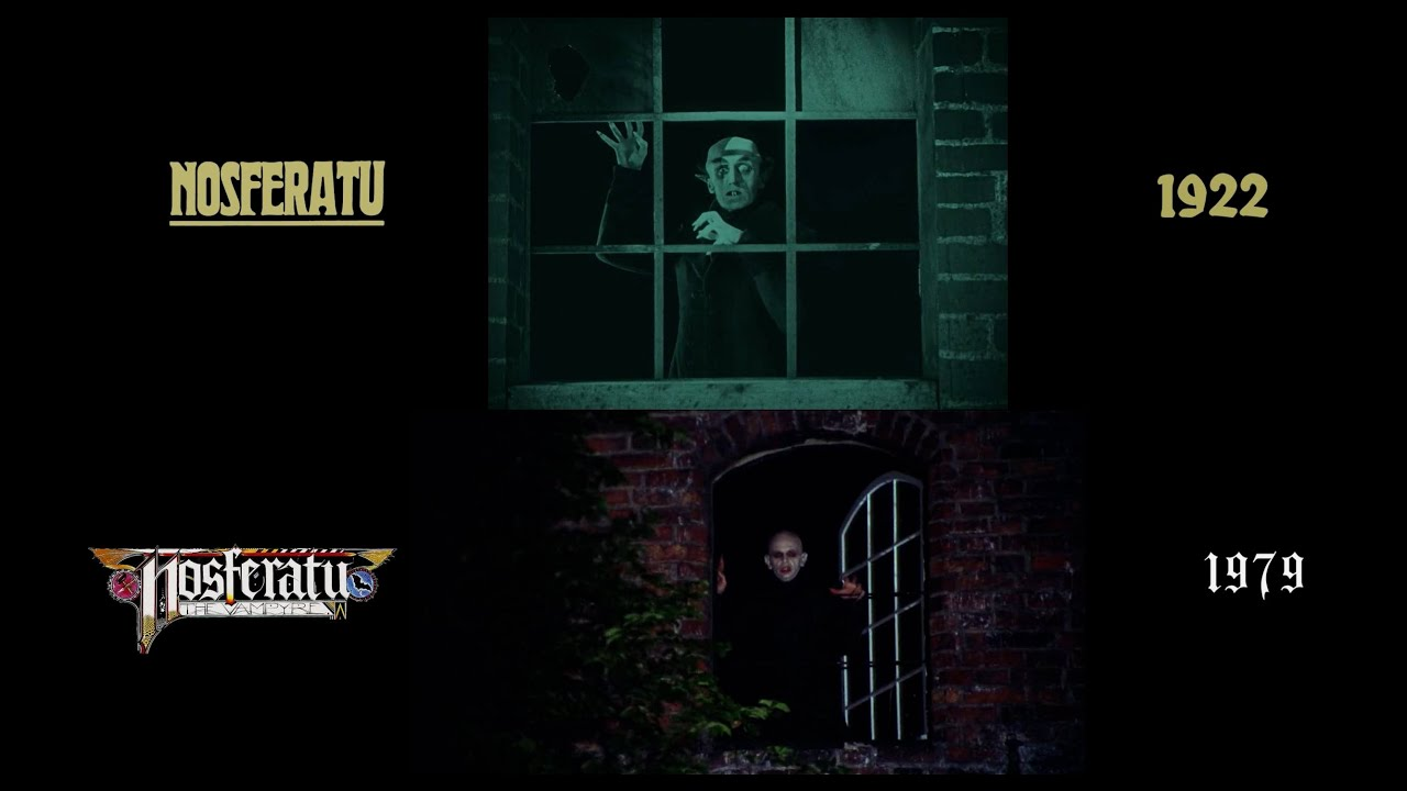 Nosferatu (1922/1979) A side-by-side, shot-for-shot comparison between the the two film adaptations of Dracula