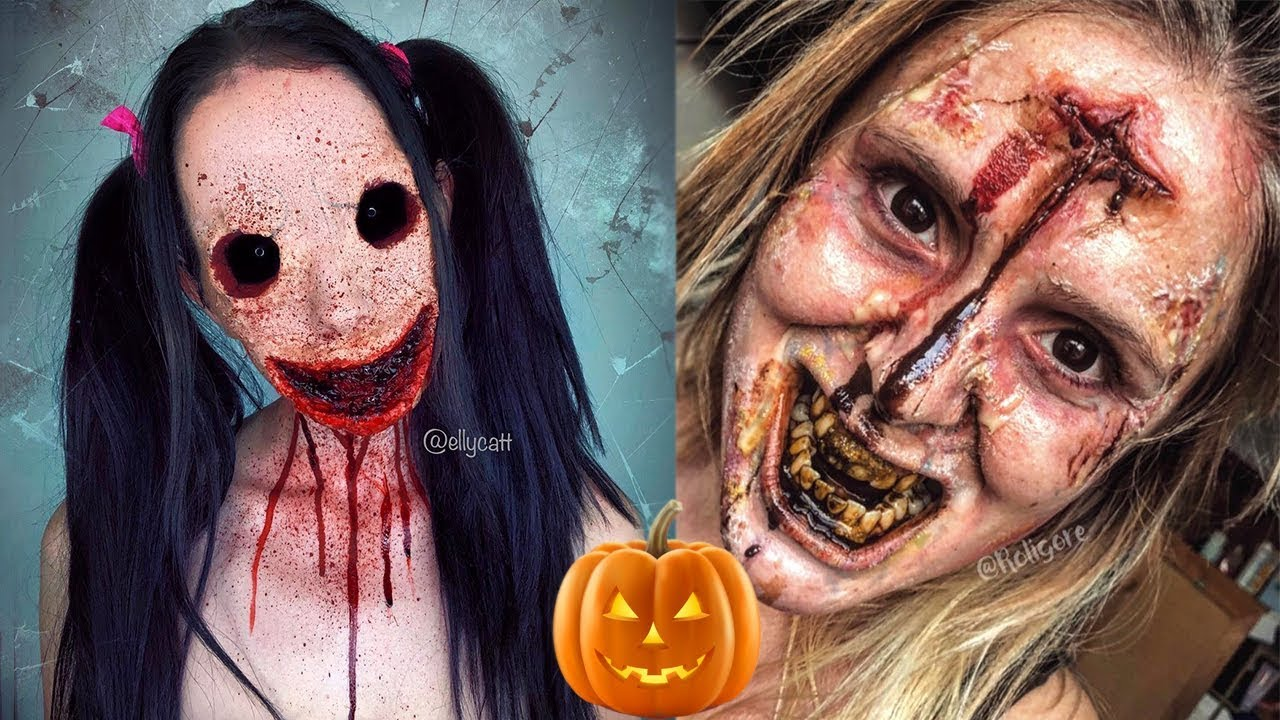 Scary Halloween Makeup Tutorials   Special Effects Makeup Ideas Compilation