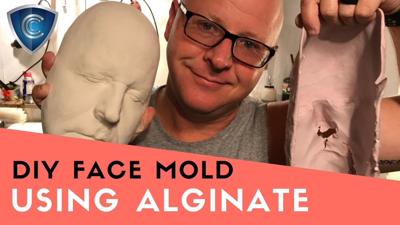DIY Face Cast and Mold using alginate