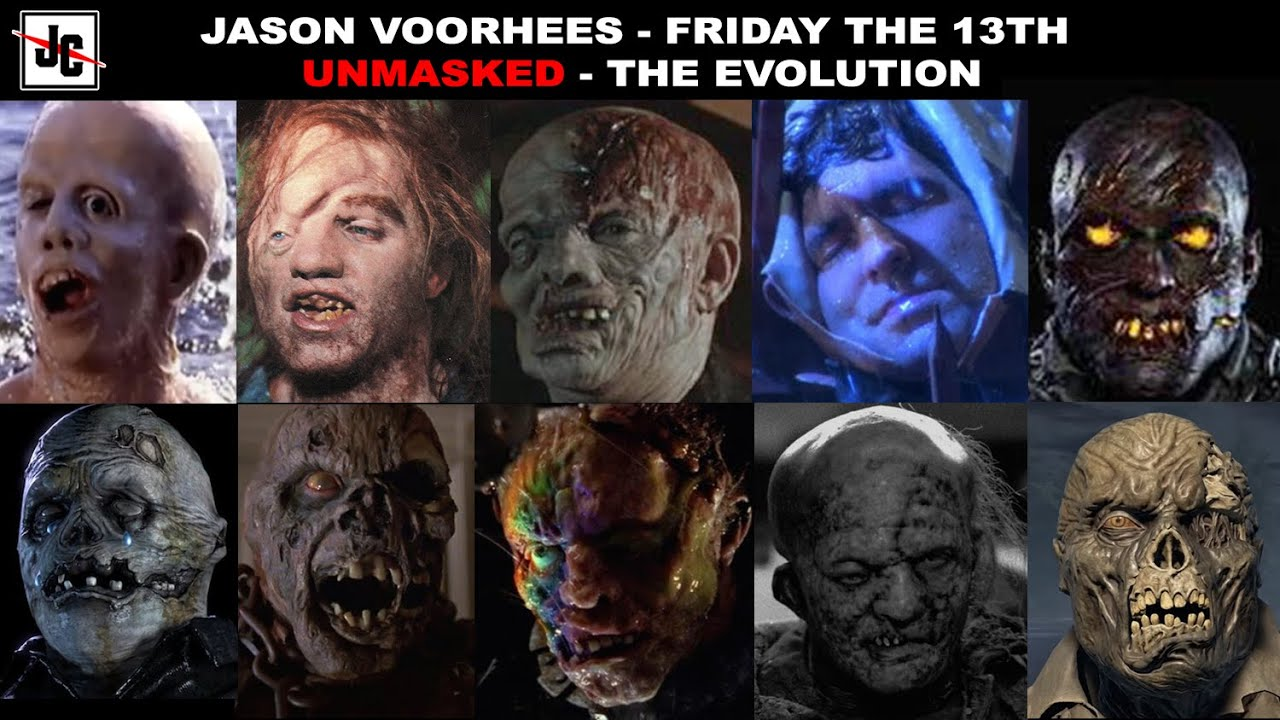 EVERY JASON VOORHEES UNMASKED - Friday the 13th | Evolution