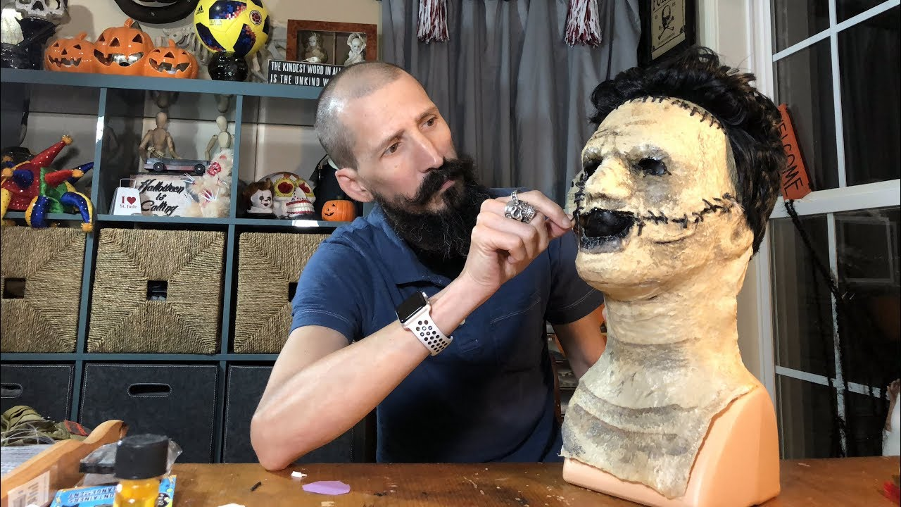 Leatherface Mask from Texas Chainsaw Massacre Tutorial