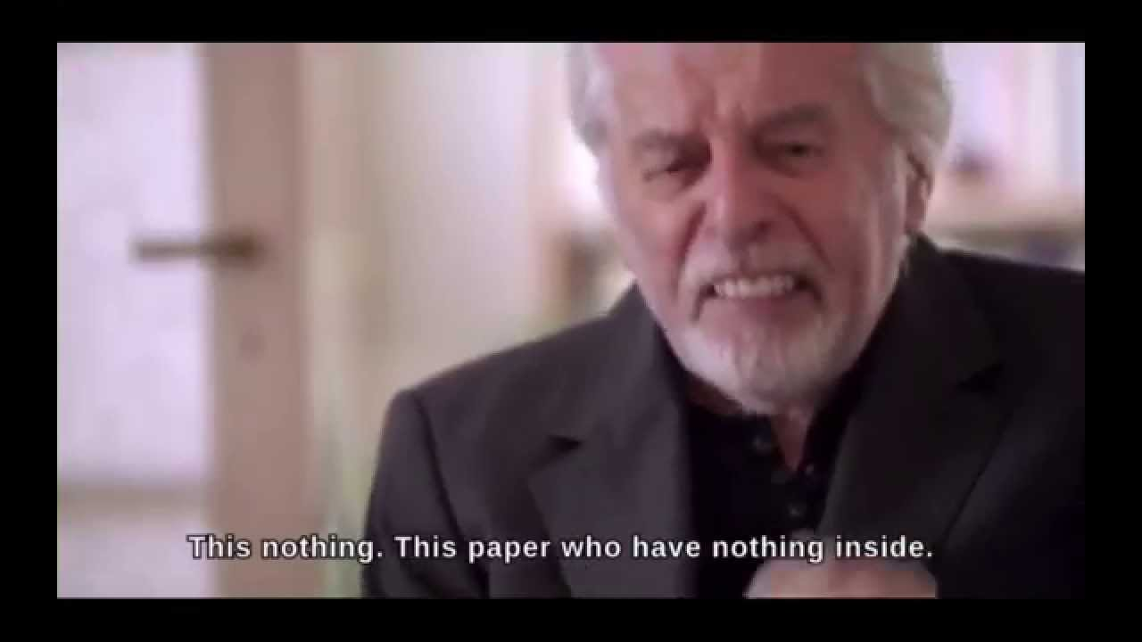 This Money. This Shit. This Nothing. This paper who have nothing inside!
