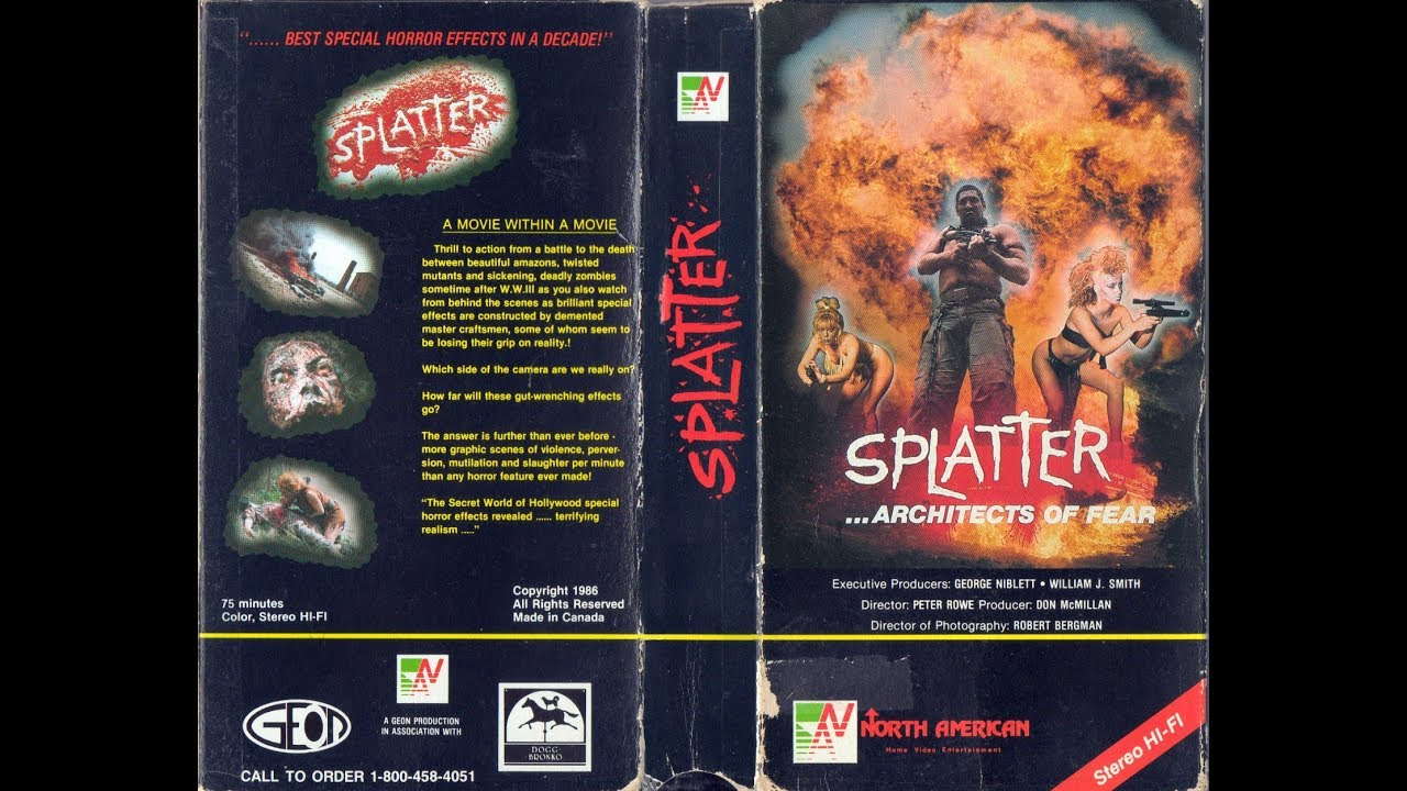 Splatter: Architects Of Fear (1986) VHS